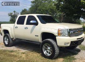 "2012 Chevrolet Silverado 1500 - 20x10 -24mm - Fuel Maverick - Suspension Lift 6"" - 35"" x 12.5"""