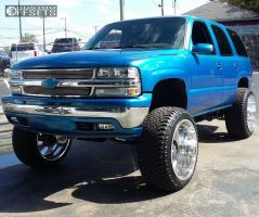 "2001 Chevrolet Tahoe - 24x14 -76mm - Fuel F-10 - Suspension Lift 6"" & Body 3"" - 325/45R24"
