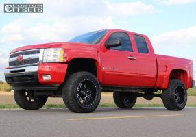 "2009 Chevrolet Silverado 1500 - 20x12 -44mm - Red Dirt Road Rd01 - Suspension Lift 6"" - 35"" x 12.5"""