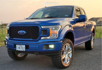 "2018 Ford F-150 - 22x9.5 0mm - OE Replicas Platinum - Suspension Lift 3"" - 35"" x 12.5"""
