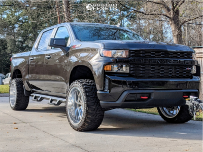 "2021 Chevrolet Silverado 1500 - 22x12 -51mm - Cali Off-Road Summit - Leveling Kit - 33"" x 12.5"""