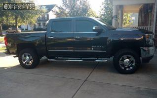 "2016 Chevrolet Silverado 1500 - 18x9 0mm - Xd Xd775 - Suspension Lift 3.5"" - 295/65R18"