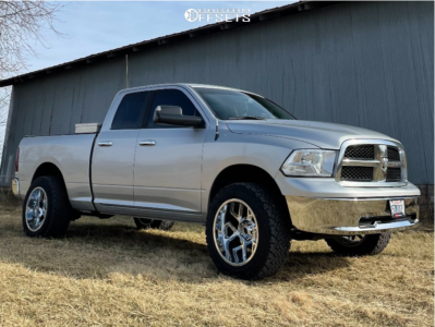 "2010 Dodge Ram 1500 - 20x12 -51mm - Vision Sliver - Suspension Lift 2.5"" - 33"" x 12.5"""
