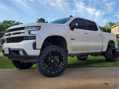 """2020 Chevrolet Silverado 1500 - 22x12 -44mm - TIS 552B - Suspension Lift 6"""" - 35"""" x 12.5"""""""