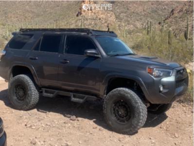 "2016 Toyota 4Runner - 18x9.5 -18mm - Black Rhino Arsenal - Suspension Lift 6"" - 35"" x 12.5"""