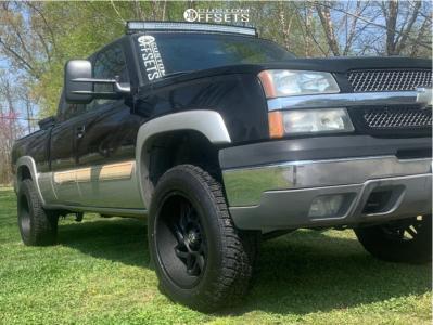 "2004 Chevrolet Silverado 1500 - 20x10 -25mm - Vision Spyder - Leveling Kit - 33"" x 12.5"""