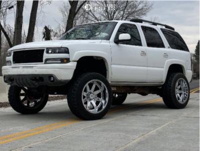 "2003 Chevrolet Tahoe - 22x12 -44mm - Hostile Alpha - Suspension Lift 6"" & Body 3"" - 35"" x 12.5"""