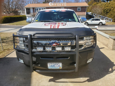 "2012 Chevrolet Silverado 1500 - 18x9 25mm - Ultra Phantom - Stock Suspension - 32"" x 9.5"""