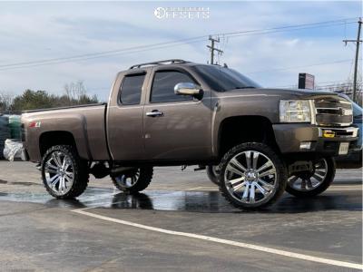 "2007 Chevrolet Silverado 1500 - 26x10 12.7mm - OE Replicas Denali - Suspension Lift 8"" - 37"" x 13.5"""