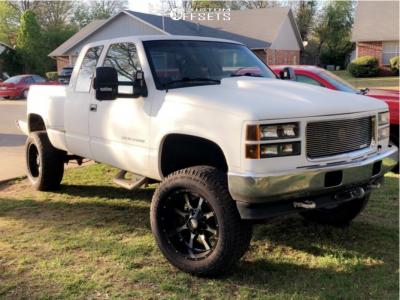 "1995 Chevrolet K1500 - 20x10 -24mm - Moto Metal Mo970 - Suspension Lift 6"" - 305/50R20"