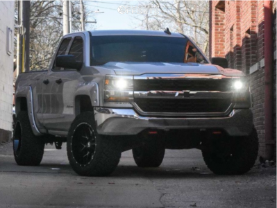 "2016 Chevrolet 1500 - 20x12 -44mm - Hardrock Affliction - Suspension Lift 3.5"" - 33"" x 12.5"""