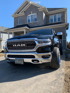2020 Ram 1500 - 24x14 -76mm - Tuff T2a - Stock Suspension - 305/35R24