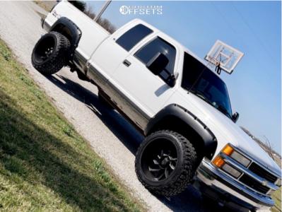 "1999 Chevrolet K1500 - 22x12 -57mm - Vision Spider - Leveling Kit - 33"" x 12.5"""