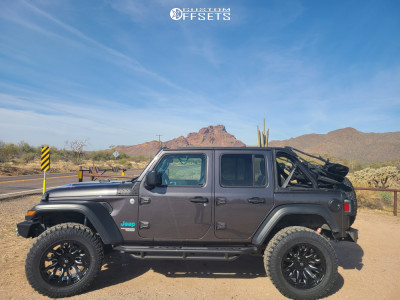 "2018 Jeep Wrangler - 20x10 -18mm - Fuel Blitz - Suspension Lift 3.5"" - 35"" x 12.5"""