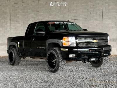 "2009 Chevrolet Silverado 1500 - 20x12 -55mm - Vision Sliver - Leveling Kit - 33"" x 12.5"""