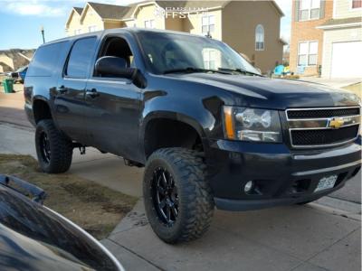 "2013 Chevrolet Suburban 2500 - 20x10 -24mm - Moto Metal Mo962 - Suspension Lift 6"" - 35"" x 12.5"""