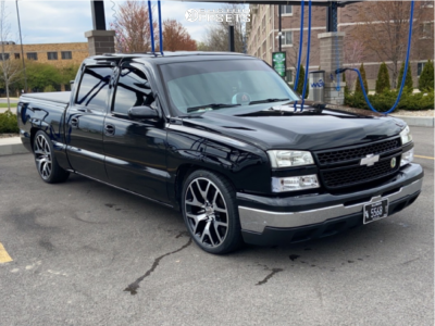 """2006 Chevrolet Silverado 1500 - 22x9 32mm - Rev Replicas 586 - Lowered 5F / 7R - 35"""" x 8.5"""""""