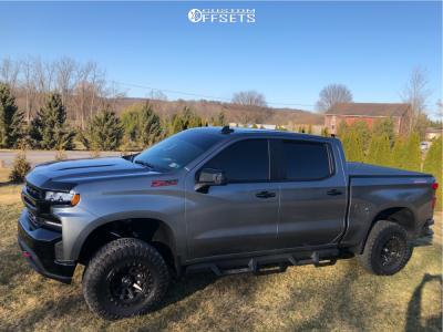"2020 Chevrolet Silverado 1500 - 17x9 -12mm - Fuel Covert - Suspension Lift 4"" - 33"" x 12.5"""
