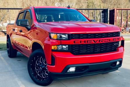"""2021 Chevrolet Silverado 1500 - 20x10 -19mm - Hardrock Gunner - Stock Suspension - 33"""" x 11.5"""""""