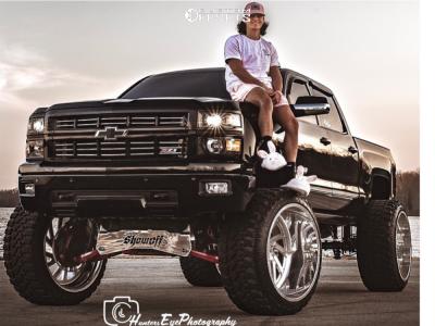 "2015 Chevrolet Silverado 1500 - 26x16 -103mm - Specialty Forged SF 41 - Suspension Lift 12"" - 40"" x 15.5"""