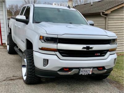 "2017 Chevrolet Silverado 1500 - 24x12 -57mm - Vision Sliver - Leveling Kit - 33"" x 12.5"""