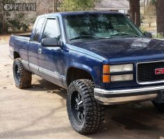 """1996 GMC K1500 - 20x9 -12mm - Red Dirt Road 01 - Leveling Kit - 33"""" x 12.5"""""""