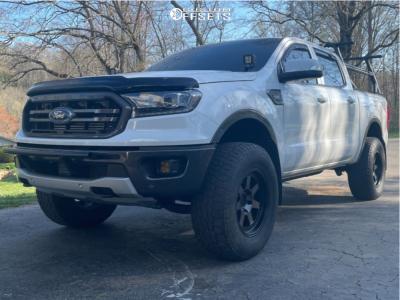 """2019 Ford Ranger - 17x9 -6mm - Mayhem Prodigy - Suspension Lift 2.5"""" - 285/70R17"""