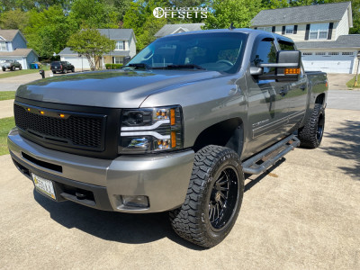 """2013 Chevrolet Silverado 1500 - 20x10 -25mm - ARKON OFF-ROAD Caesar - Suspension Lift 3.5"""" - 33"""" x 12.5"""""""
