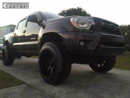 "2012 Toyota Tacoma - 20x12 -44mm - Raceline Twist - Suspension Lift 3"" - 285/55R20"
