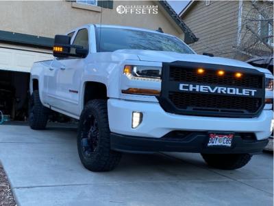 "2019 Chevrolet Silverado 1500 LD - 18x9 -12mm - Ballistic Morax 845 - Suspension Lift 3.5"" - 33"" x 12.5"""