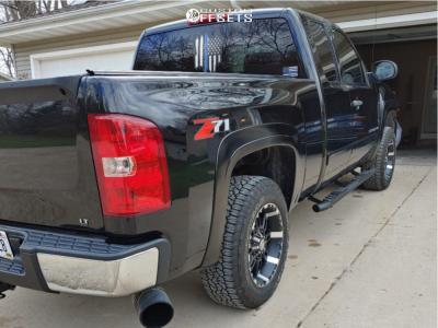 2007 Chevrolet Silverado 1500 - 18x6.5 0mm - Panther 580 - Leveling Kit - 265/65R18