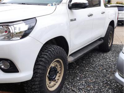 """2017 Toyota Hilux - 17x9.5 -18mm - Black Rhino Armory - Suspension Lift 2.5"""" - 32"""" x 11.5"""""""