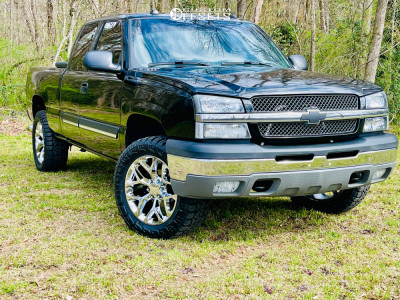 "2004 Chevrolet Silverado 1500 - 20x9.5 27mm - Factory Reproductions Fr59 - Suspension Lift 4.5"" - 33"" x 12.5"""