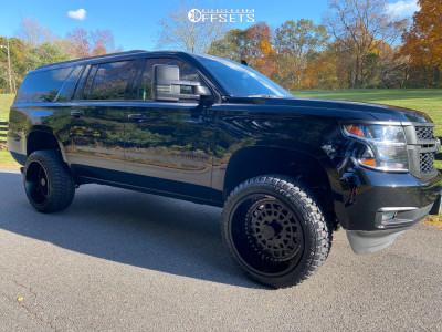 "2017 Chevrolet Suburban - 22x12 -51mm - ARKON OFF-ROAD Crown Series Triumph - Suspension Lift 4"" - 33"" x 12.5"""