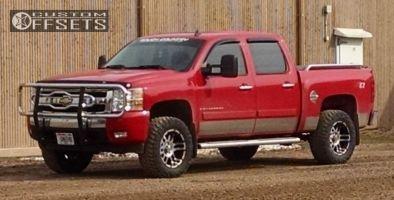 "2008 Chevrolet Silverado 1500 - 18x9 -12mm - American Eagle 79 - Suspension Lift 3.5"" - 33"" x 12.5"""
