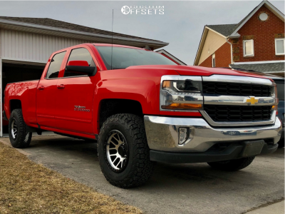 "2017 Chevrolet Silverado 1500 - 17x9 -12mm - Vision Nemesis 111 - Leveling Kit - 33"" x 12.5"""