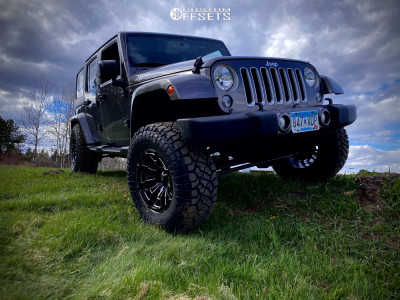 "2016 Jeep Wrangler - 18x10 -18mm - Moto Metal MO978 - Suspension Lift 3.5"" - 35"" x 12.5"""
