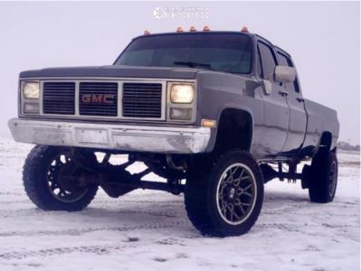 "1987 GMC V3500 - 20x12 -44mm - XD Xd203 - Suspension Lift 6"" - 33"" x 12.5"""