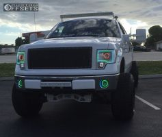 """2013 Ford F-150 - 22x14 -76mm - American Truxx At154 - Suspension Lift 6"""" & Body 3"""" - 35"""" x 12.5"""""""