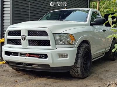 """2014 Ram 1500 - 20x10 -13mm - Fast Wheels Grinder - Level 2"""" Drop Rear - 305/55R20"""