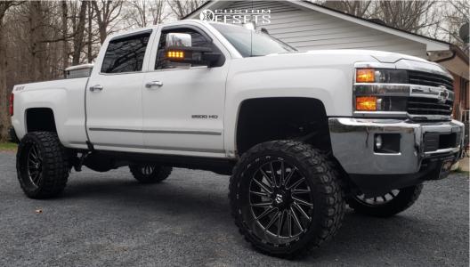 """2016 Chevrolet Silverado 2500 HD - 26x12 -44mm - TIS 547bm - Suspension Lift 6"""" - 37"""" x 13.5"""""""