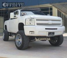 """2013 Chevrolet Silverado 1500 - 20x12 -44mm - Moto Metal MO962 - Lifted >9"""" - 35"""" x 12.5"""""""