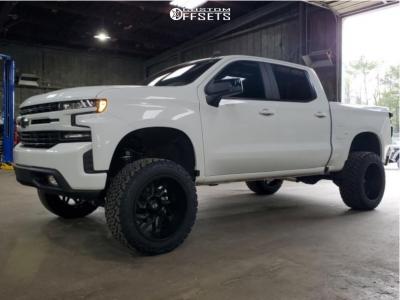 "2020 Chevrolet Silverado 1500 - 22x12 -44mm - Vision Spyder - Suspension Lift 6"" - 35"" x 12.5"""