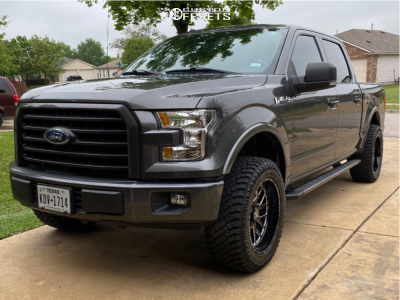 """2017 Ford F-150 - 20x10 -25mm - Xtreme Force XF10 - Leveling Kit - 33"""" x 12.5"""""""