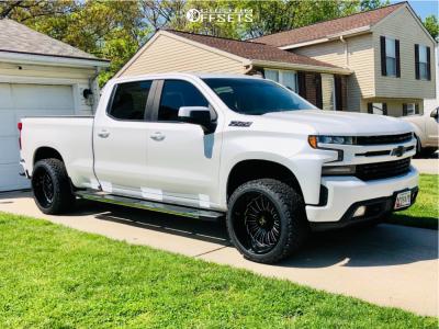 "2019 Chevrolet Silverado 1500 - 22x12 -51mm - ARKON OFF-ROAD Alexander - Leveling Kit - 33"" x 12.5"""