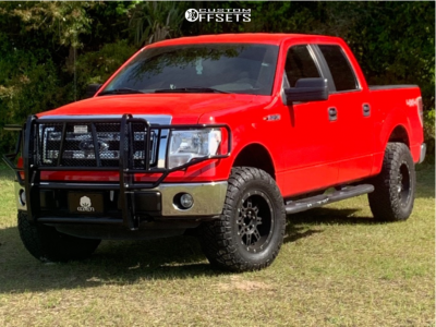 2013 Ford F-150 - 18x10 0mm - Pro Comp 31 - Leveling Kit - 295/70R18