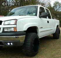 "2005 Chevrolet Silverado 1500 - 20x14 -76mm - XD Riot - Leveling Kit - 33"" x 12.5"""