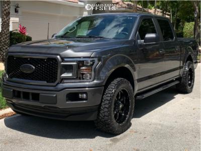 "2019 Ford F-150 - 20x9 -0mm - Moto Metal Mo970 - Suspension Lift 2.5"" - 295/55R20"
