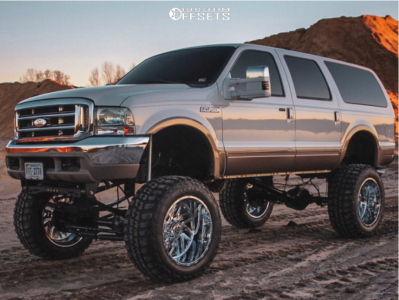 """2000 Ford Excursion - 24x14 -76mm - TIS 544c - Lifted >12"""" - 40"""" x 15.5"""""""