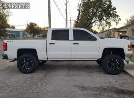 """2014 Chevrolet Silverado 1500 - 20x10 -24mm - Fuel Hostage - Suspension Lift 6"""" - 35"""" x 12.5"""""""